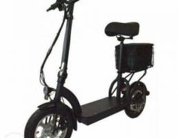 Electric Scooter With Seat, Cargo Bag