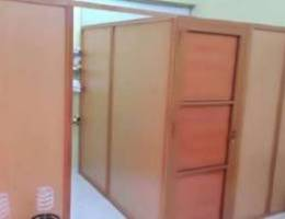 High 3 rooms partition with 3 doors