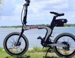 Windscreen electric fordable bike