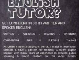 English Tutor for both adults and kids