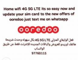 Ooredoo wifi 5G 4G by whatsapp