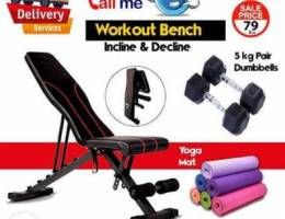 Royal Sports Workout Bench and 10 Kg Dumbb...