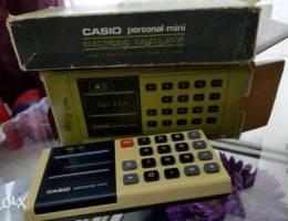 Calculator alarm watch transistor clock