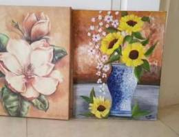 Wall hanging canvas painting 2 nos